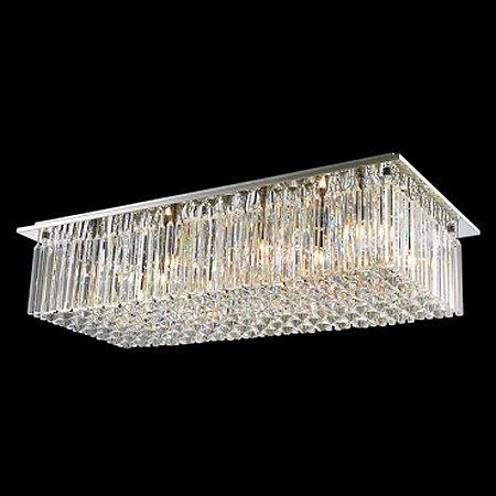 Plafon Aço Cromado - Cristal Translúcido Mais Luz PL-003/10.91CL