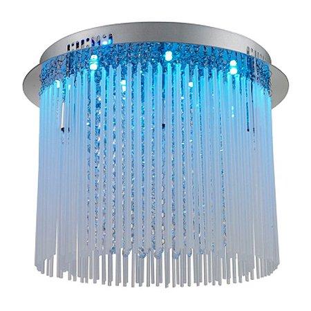 Plafon RGB Aço Cromado - Vidro Mais Luz PL-011/6.40