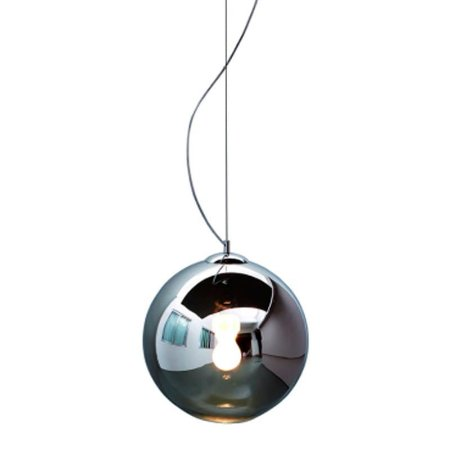 Pendente Aço Cromado, Vidro Fumê Mais Luz PE-001/1.40PR