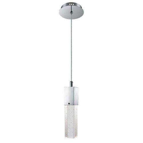 Pendente Aço e Vidro Translúcido 31,5x5,5x200cm 1xGU10 50W Cromado Mais Luz PE-015/1.6
