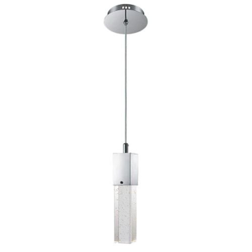 Pendente Aço e Vidro Translúcido 15,5x22x150cm 1xGU10 50W Cor Cromado Mais Luz PE-015/1.100