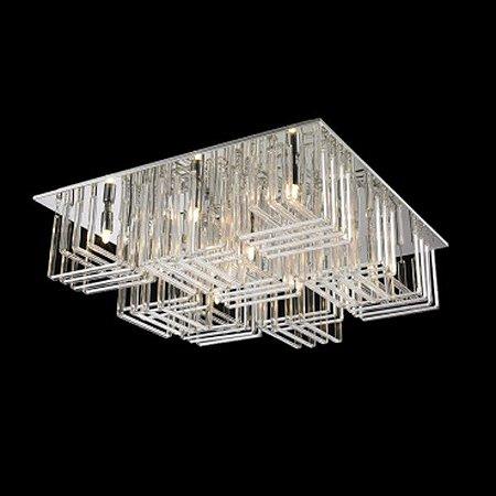 Plafon Aço Cromado - Vidro Translúcido Mais Luz PL-018/9.60CL