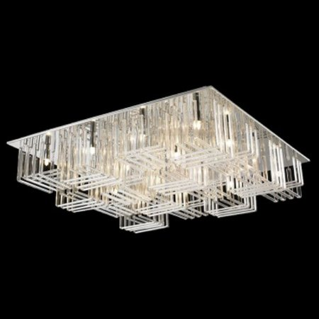 Paflon Aço Cromado - Vidro Translúcido Mais Luz PL-018/16.80CL