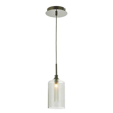 Pendente Aço Cromado - Vidro Translúcido Mais Luz PE-024/1.12CL