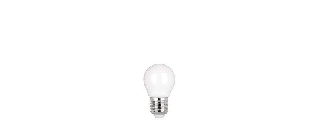 Lâmpada Mini Bulbo Filamento Milky Bivolt 2W 200LM 2700K E27 300° Stella STH8220/27