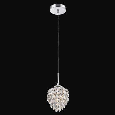 Pendente Aço Cromado - Cristal Translúcido Mais Luz PE-030/1.15CL