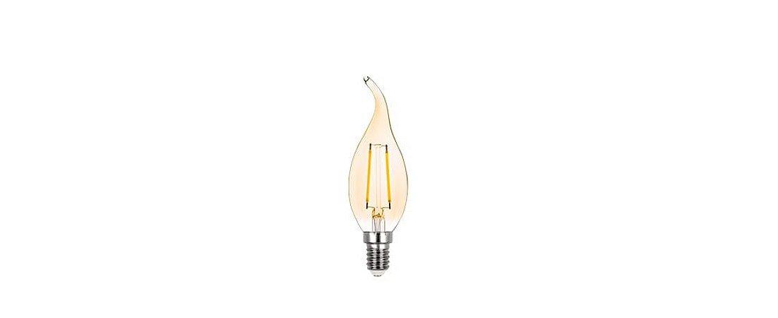 Lâmpada Vela Chama Filamento Vintage 127V 2W 200ML 2400K E14 270º Stella STH6331/24