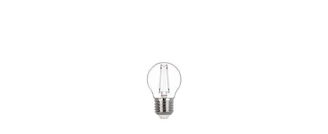 Lâmpada Mini Bulbo Filamento Color Bivolt Luz Vermelha 2W E27 270° Stella STH6340/VM