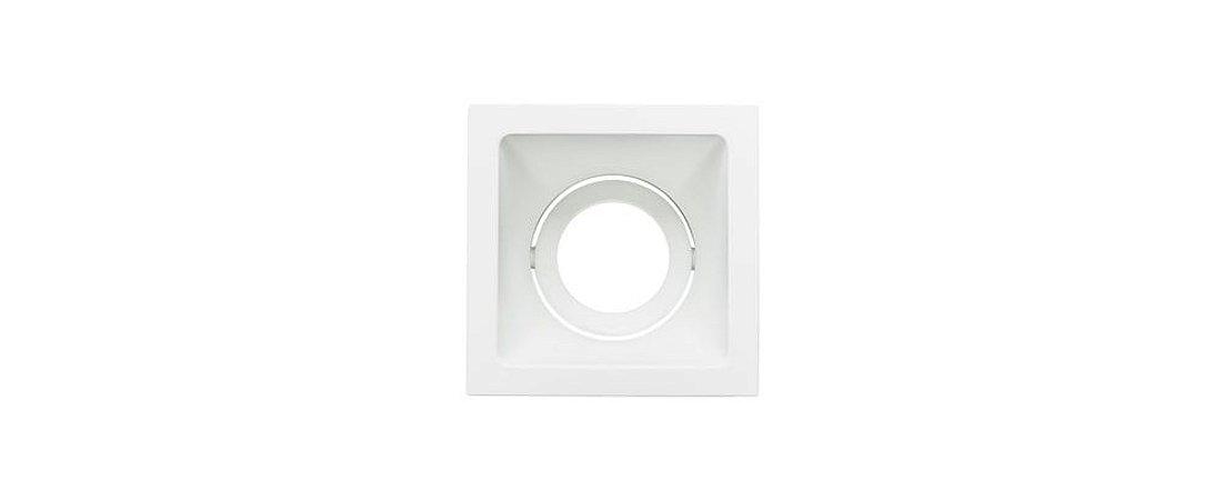 Embutido Direcionável Alumínio Square Ghost MR16 90mmx90mm Branco 15W Stella STH8945BR