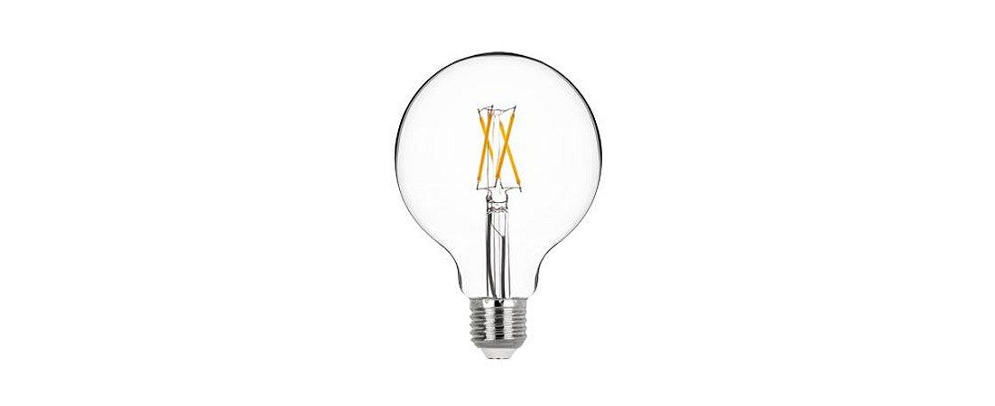 Lâmpada G95 Ballon Filamento Vidro Translúcido Bivolt 4W 400LM 2700K E27 360º Stella STH7211/27