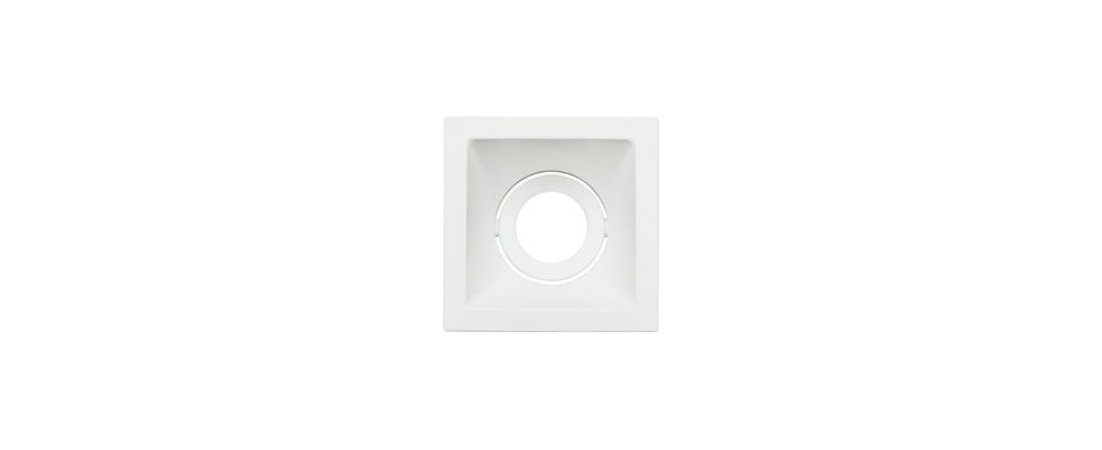 Embutido Direcionável Square MR11 74x74mm Branco Alumínio 15W Stella STH8910BR