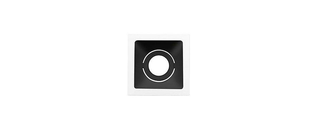 Embutido Direcionável Square MR11 74mmx74mm Branco e Preto Alumínio 15W Stella STH8910BR/PTO