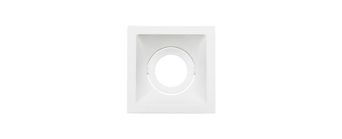 Embutido Direcionável Alumínio Square MR16 96x96mm Branco 15W Stella STH8915BR