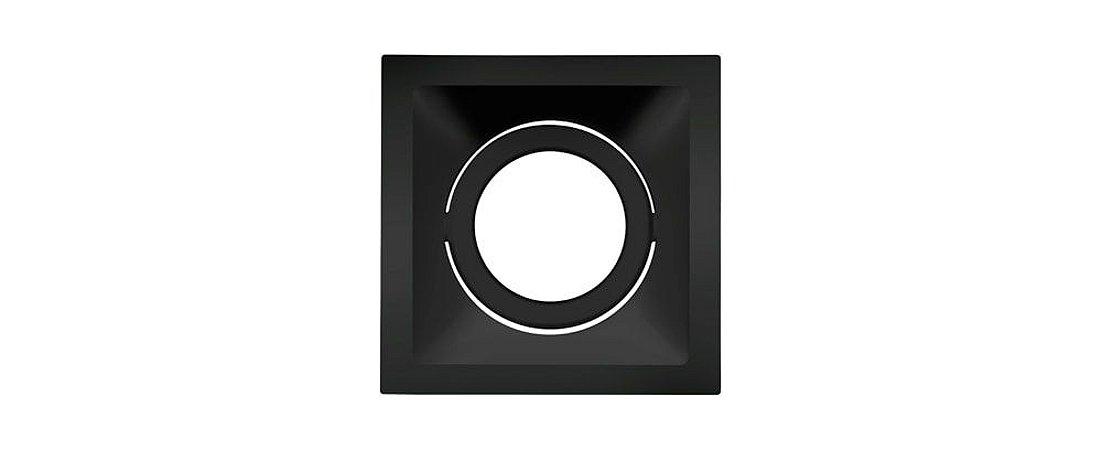 Embutido Direcionável Alumínio Square PAR20 116x116mm Preto 20W Stella STH8920PTO