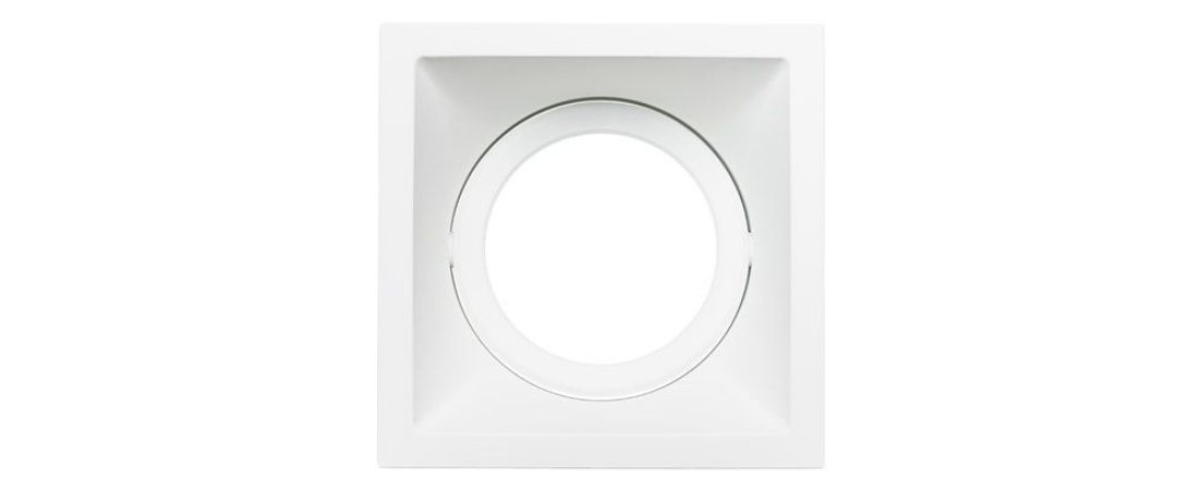 Embutido Direcionável Alumínio Square PAR30 140x140mm Branco 30W Stella STH8925BR