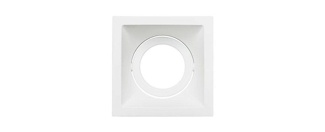 Embutido Direcionável Alumínio Square AR111 160mmx160mm Branco 20W Stella STH8935BR