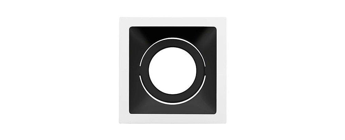 Embutido Direcionável Alumínio Square AR111 160mmx160mm Branco e Preto 20W Stella STH8935BR/PTO