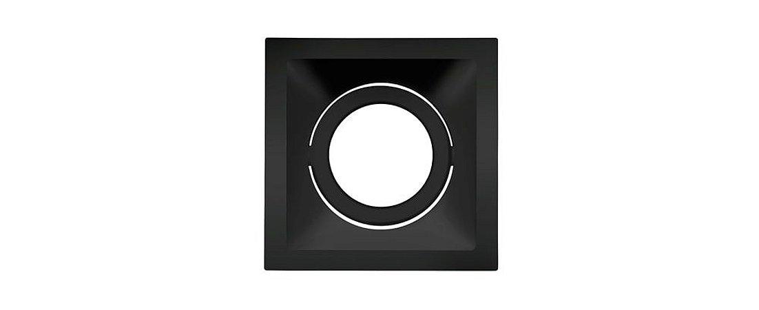 Embutido Direcionável Alumínio Square AR111 160x160mm Preto 20W Stella STH8935PTO