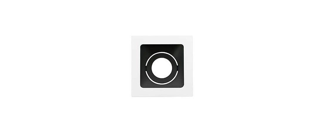 Embutido Direcionável Alumínio Square Ghost MR11 69x69mm Branco E Preto 15W Stella STH8940BR/PTO