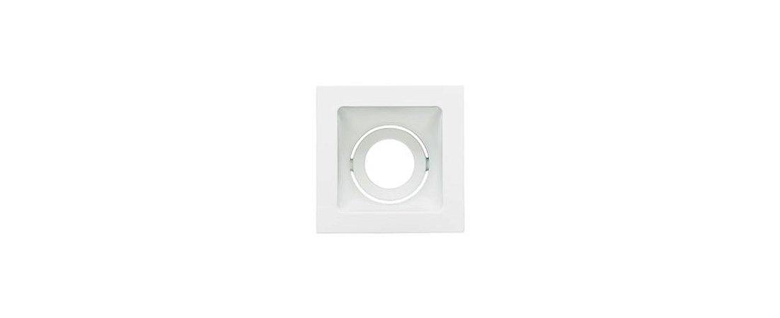 Embutido Direcionável Alumínio Square Ghost PAR20 112x112mm Branco 20W Stella STH8950BR