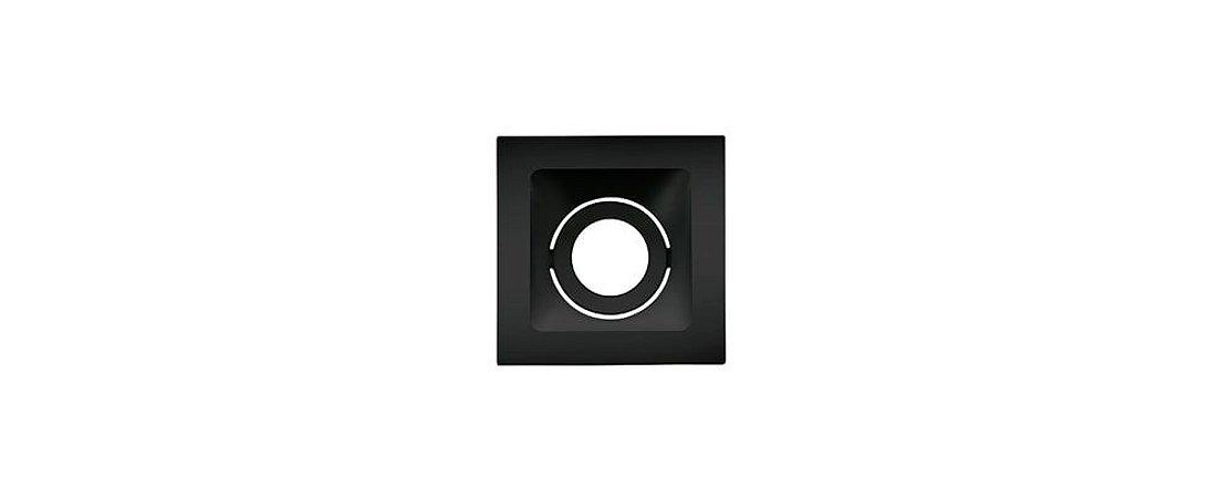 Embutido Direcionável Alumínio Square Ghost PAR20 112x112mm Preto 20W Stella STH8950PTO