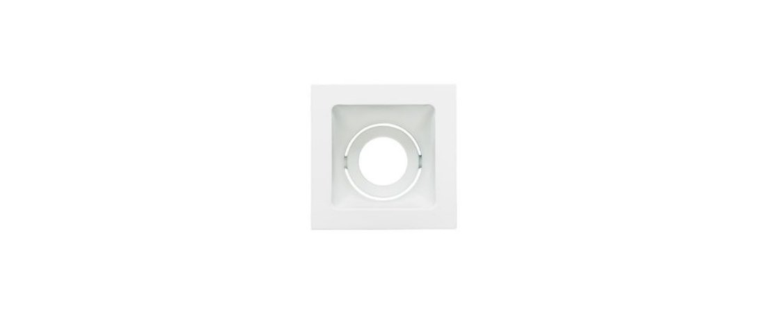 Embutido Direcionável Alumínio Square Ghost AR70 112x112mm Branco 20W Stella STH8955BR
