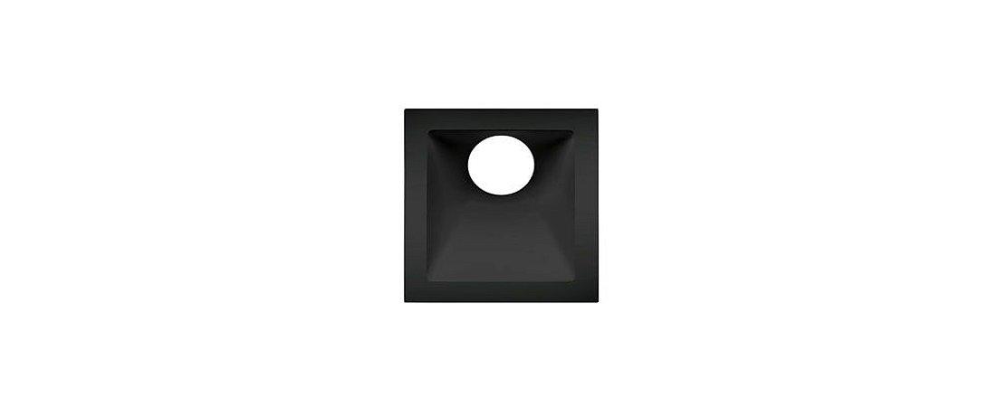 Embutido Angular Alumínio Square Angle MR11 25° 74x74mm Preto 15W Stella STH8960PTO