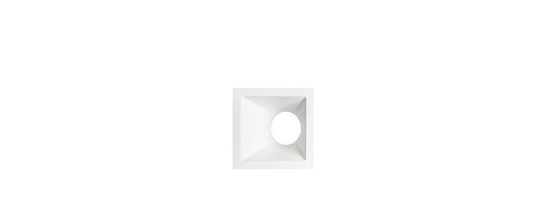 Embutido Angular Alumínio Square Angle MR16 25° 96mmX96mm Branco 15W Stella STH8970BR