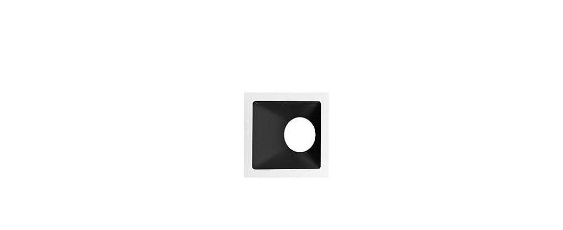 Embutido Angular Alumínio  Square Angle MR16 25° 96x96mm Branco e Preto 15W Stella STH8970BR/PTO