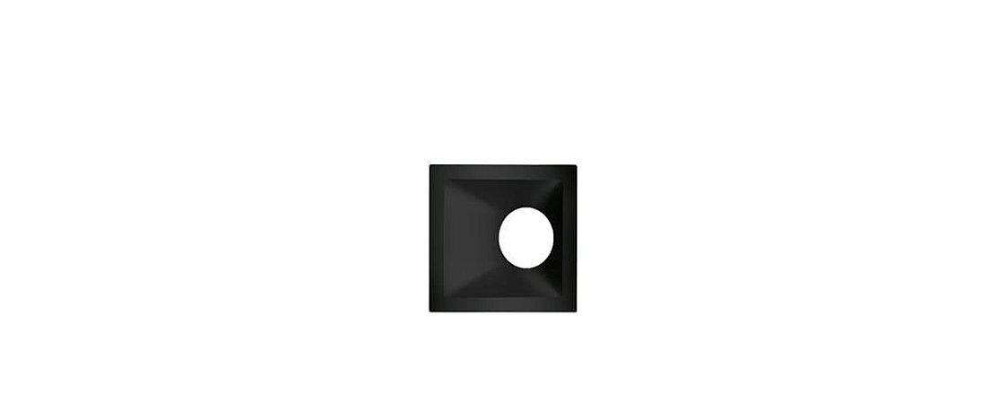 Embutido Angular Alumínio Square Angle MR16 25° 96x96mm Preto 15W Stella STH8970PTO