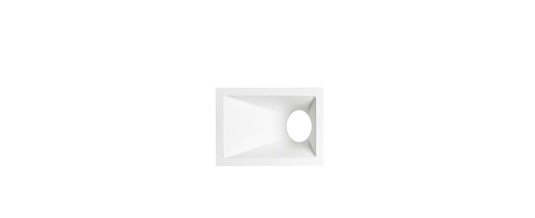 Embutido Angular Alumínio Square Angle MR16 40° 96x132mm Branco 15W Stella STH8975BR