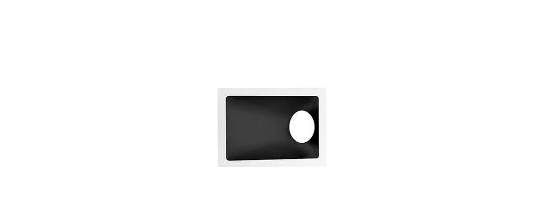 Embutido Angular Alumínio  Square Angle MR16 40° 96x132mm Branco e Preto 15W Stella STH8975BR/PTO