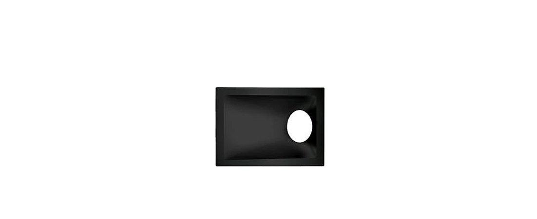 Embutido Angular Alumínio Square Angle MR16 40° 96x132mm Preto 15W Stella STH8975PTO