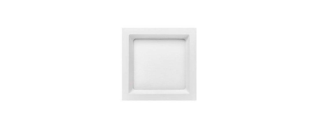 Painel Embutir Quadrado 167x167mm 12W  5700K Bivolt  850LM 120° Deep Stella STH8902BR/57