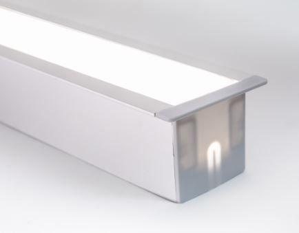 Perfil Embutir de Alumínio Full Difusor Leitoso Barra 250cm Cor Cinza  Revoled AP0601