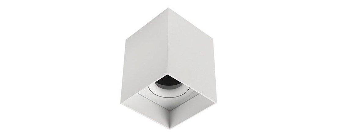 Plafon Direcionável Quadrat MR16 90X90mm Branco Stella STH8981BR