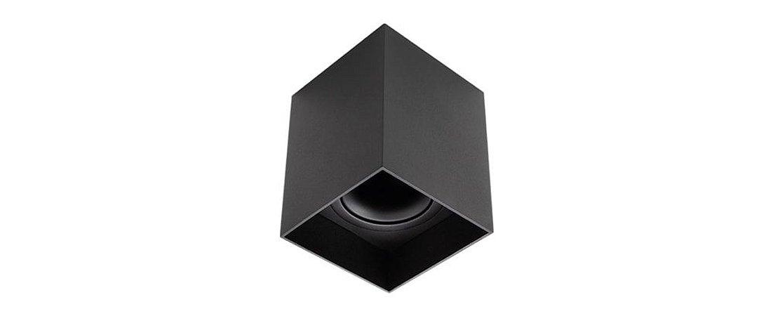 Plafon Direcionável Quadrat MR16 90X90mm Preto Stella STH8981PTO