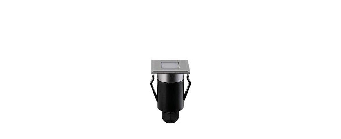 Balizador de Solo Spur Luz Geral Quadrado Bivolt 1W 20LM 3000K IP67 100º Stella STH7710/30