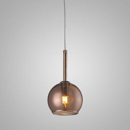 Pendente Aço Cromado - Vidro Fumê Mais Luz PE-001/1.12BRO
