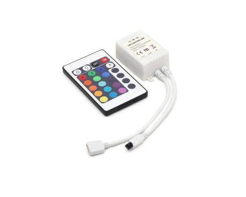 Controlador RGB IR com Controle Remoto de 24 Botões 6A Revoled LC1007