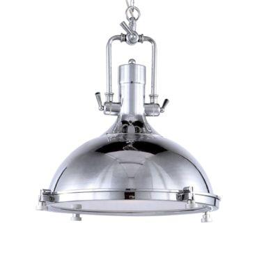 Pendente Kitchen Metal Cromado e Vidro Fosco Mais Luz PE-082/1.45C