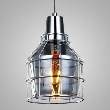 Pendente Shiny Vidro Fumê/ Aramado Cromado Mais Luz PE-083/1.16SMC