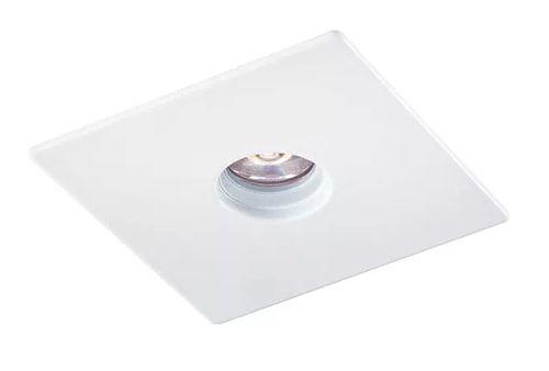 Mini Embutido Quadrado Laser com Face Plana MR11 1XGU10 6,5x6,5cm Branco Impacto 1096