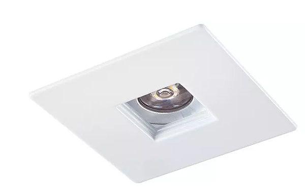 Mini Embutido Quadrado Laser com Face Plana MR11 1XGU10 6,5x6,5cm Branco Impacto 1097