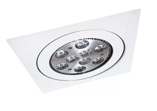 Embutido Orientável Quadrado com Mola em Alumínio Injetado MR16  1XGU10 8,3X8,3cm Impacto 2022