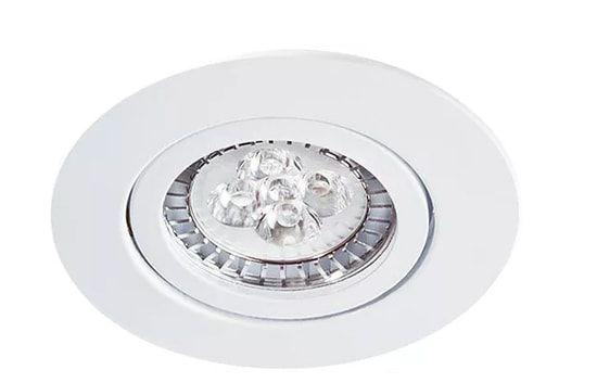 Embutido Redondo Foco Fixo com Face Plana em Alumínio Injetado Sistema Click PAR20 1XE27 Branco Impacto 1019