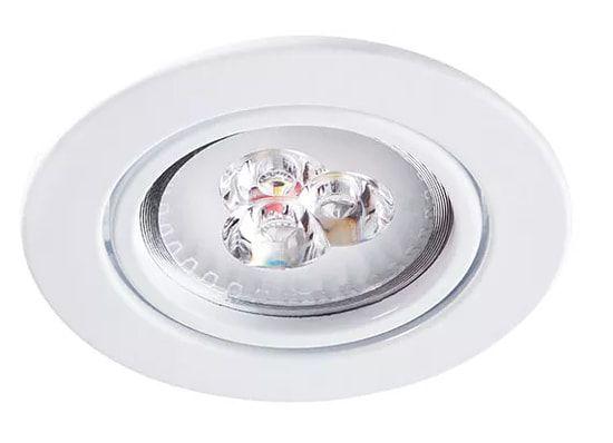 Embutido Redondo em Alumínio Injetado AR111 1XGU10 Ø14,2X4cm Branco Impacto 2026