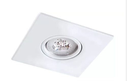 Embutido Quadrado em Alumínio Injetado AR70  1XGU10 12x12cm Sistema Click Impacto 2028