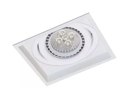 Embutido Recuado Recuado Micro Borda Quadrado Metal PAR20 1XE27 11,5x11,5x04cm Impacto 1011