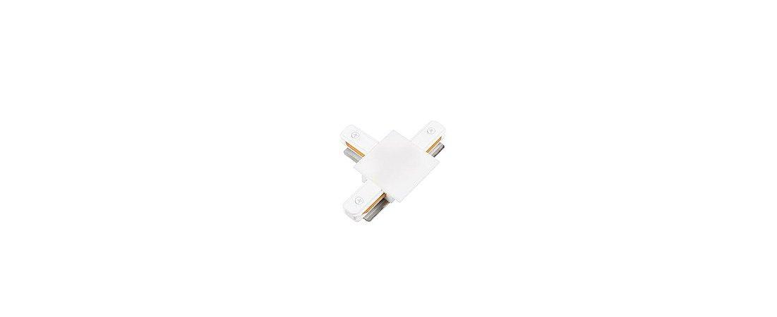 Conexão T para Trilho de Embutir Branco Stella SD1207BR